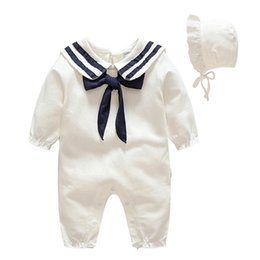 a17aa623b933 2019 new Spring Baby Girl Clothes toddler girl clothes long sleeve Baby  Rompers +hat 2pcs Newborn Romper Girls One Piece Clothing A2645