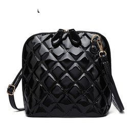 good quality Hot New Plaid Women Bags High Quality Shoulder Bag Patent Leather  Women Messenger Bags Casual Shell Crossbody Bag 952dae4d6c763