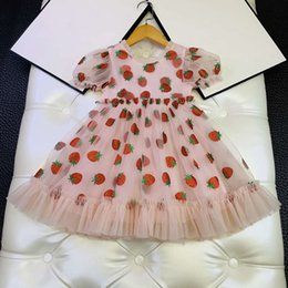 ITFABS Littler Baby Girl Dress Strawberry Long Sleeve Casual Dress Ruffles Play Wear Dress Princess Dress Clothes