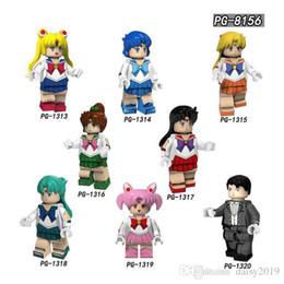 2019 seemann mondpuppen Sailor Moon Puppen Monat Hase Mizuno Ami Muye Zhenqin Kinder Spielzeug Für Kinder PG8156 günstig seemann mondpuppen