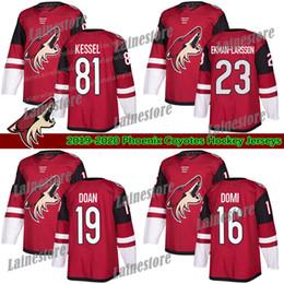 2019 camisetas de hockey rojo en blanco Phoenix Arizona Coyotes Jersey 81 Phil Kessel 16 Max Domi Jersey 23 Oliver Ekman-Larsson Rojo Blanco en blanco de los jerseys del hockey camisetas de hockey rojo en blanco baratos