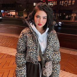 Gagaopt Leopard Print Winter Jacket Turtleneck Windbreaker Jacket  Streetwear Outerwear Casaco Feminino Ropa Invierno Mujer 32c76f449