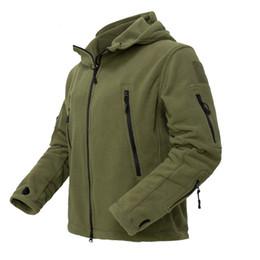 Мужчины US Army Winter термальной ватки Tactical куртка на открытом воздухе Спорт Hooded Coat MILITAR Softshell Пешие прогулки Открытый армии куртки от