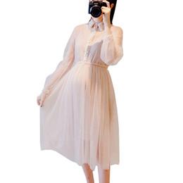 Femmes Enceintes Élégant Midi Robe Longue + Robes De Débardeur En Dentelle pour Grossesse Maternité Mignon Printemps Robe De Bal Parti Vêtements Nouveau ? partir de fabricateur