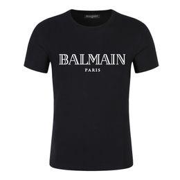 2019 camisetas de jay z 2019 de moda de verano Marca dientes de tiburón camiseta de los hombres TeeBalmain diseño camisas de los hombres de manga corta de impresión de camisetas varón ocasional de las tapas te ocasional