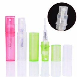 bottiglie spray spray atomizzatore all'ingrosso Sconti bottiglia all'ingrosso 3ml mini plastica profumo spruzzo, vuoto piccolo campione atomizzatore profumo bottiglie riutilizzabili LX1330