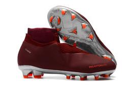 fb3b817ed3bd 2019 Top Sell Wine Red Soccer Cleats Original Outdoor Men Soccer Shoes  Phantom VSN Elite DF FG Neymar Wholesale Best Quality Football Boots