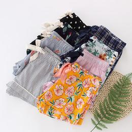 pantalones cortos de pijama caliente Rebajas Pantalones de dormir para mujer Pantalones de pijama finos de algodón de verano Pantalones de dormir para mujer Pantalones cortos sueltos Enrejado Caliente
