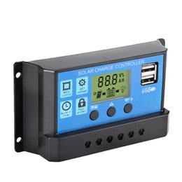 ,LCD pantalla funci/ón de visualizaci/ón actual de bater/ía del panel para protecci/ón de sobrecarga de la l/ámpara 10A,20A opcional Anself Regulador solar autom/ático 12V//24V