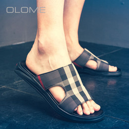 crust shoes Coupons - OLOME new Slippers Leisure Summer Thick Crust Men Sandals Non Slip Beach Shoes Male Tide Dragge size 38-44