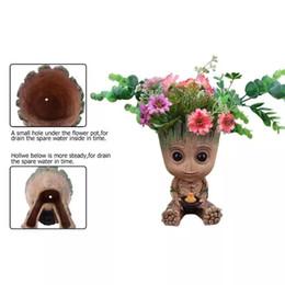 Deutschland Grootten Pflanzer Topf Baby Blumentopf Actionfiguren Spielzeug Pen Pot PVC Hero Modell Wächter der Galaxie Handwerk Figur Home Decor Versorgung