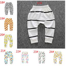 Canada 24 Modèles Bébé Garçons Filles Leggings INS Enfants Bébés PP Pantalon Dessin Animé Animal Imprimer Harem Pantalon Leggings Vêtements supplier infant denim Offre