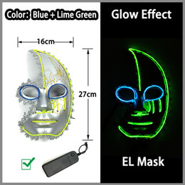 power el wire Coupons - Supplies Toys Style Energy Saving LED Neon Mask 10 Color Optional El Wire Mask Powered By DC-3V Driver for Halloween Decor Free Shipping