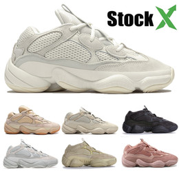 Désert Rat 500 Pierre Os Blanc fard à joues coureur de vague douce Vision Sel Utility Noir Kanye West Hommes Femmes concepteur Chaussures Sneakers