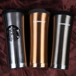 Tazze di moda online-Vendita calda Starbucks all'ingrosso dell'acciaio inossidabile tazza di vuoto auto di lusso Affari Tazze di moda tazze di caffè creativi