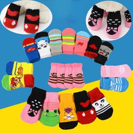 pet shoes for small dogs Coupons - Pet Dog Cat Socks for winter Cute Puppy Dogs Soft Cotton Anti-slip Knit Weave Sock Skid Bottom Dog cat Socks Clothes WX9-1261