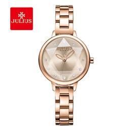 relógio de pulso julius Desconto Júlio marca mulheres de aço inoxidável de ouro cadeia pulseira relógio de moda senhoras de quartzo relógio de pulso simples relógio à prova d 'água