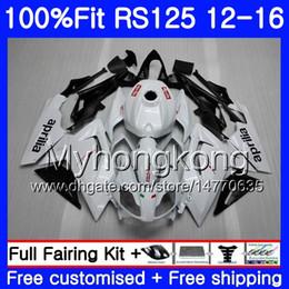 Aprilia rs 125 weiße verkleidung online-Einspritzung für Aprilia RS-125 RS125RR RS4 RS125 12 13 14 15 16 315HM.12 RSV125 RS 125 Perlweiß 2012 2013 2014 2015 2016 OEM-Verkleidungsausrüstung