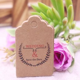 packaging bookmarks Coupons - 100PCS 3x5cm Kraft Paper Tags Jewelry Garment DIY Crafts Cards Price Hang Party Gift Packaging Label Bookmark Luggage Tag
