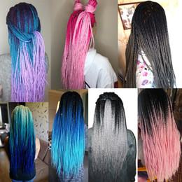 cheveux gris, racines brunes Promotion Cheveux de torsion sénégalais de 24 pouces 30 Roots / pack Tresses au crochet Tresse synthétique pour cheveux gris, bonde, rose, marron