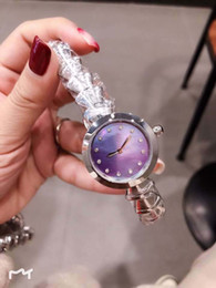 frauen silberne armbanduhren Rabatt Outdoor damenuhr 33mm perlmutt lila zifferblatt diamant stundenmarkierung damenuhren silber edelstahl armband quarz armbanduhr