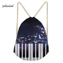 stoccaggio del sacchetto di pattino del panno Sconti Jackherelook Kids Boys Drawstring Bags Moda Splatter Piano Design Palestra da uomo Sacco Sport Beach Scarpe di stoccaggio Tasca portapantaloni
