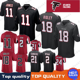 negro camiseta de julio jones Rebajas 11 Julio Jones Atlanta Falcons 2 Matt Ryan 18 Ridley Jersey Limited 24 Devonta Freeman 21 Deion Sanders Jerseys hombre Color Rushred negro