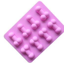 glaseado de fondant Rebajas Molde de hielo de silicona Divertida bandeja de moldes de hielo para la fiesta de caramelo de galleta de chocolate Fondant Molde de silicona KKA7129