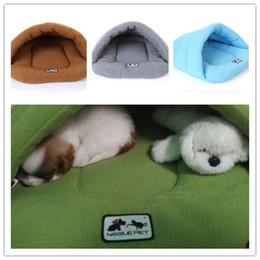 Letti per animali da compagnia caldi online-Moda pet dog cat cuccia cucciolo buco letto super soft pad caldo nido caldo pala eunuch preferito