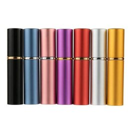 2019 flacons pour le parfum 5CC 5ml mini bouteilles en aluminium rechargeables vides conteneurs de pulvérisation de parfum de voyage portable avec cosmétique avec pots de maquillage atomiseur VVA473 flacons pour le parfum pas cher