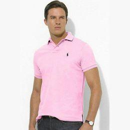 projetos de camisas polo Desconto Estilo clássico POLO Ralph projeto POLO camisa de algodão fivela dupla tendência ocasional de moda avant-garde camisa POLO dos homens