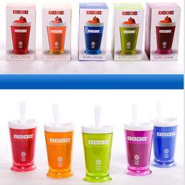 tazze di frullati Sconti Commerci All'ingrosso 5 Colori Creativi Nuovi Frutti Tazza Tazza Frutta Gelato Sabbia ZOKU Slush Shake Maker Slush Milkshake Smoothie Cup