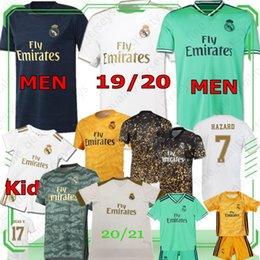 2019 mejor camiseta de futbol blanca PELIGRO 7 2020 2021 NUEVA camisa del fútbol Jersey de los kits para hombre Niños Real Madrid SERGIO RAMOS MODRIC BENZEMA MARCELO Fútbol de ISCO JOVIC BALA KROOS