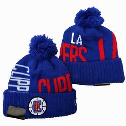 cappelli di tacchino all'ingrosso Sconti 2019 Nuova LA Basket Team Berretti invernali Squadra sportiva Stoffe Cappelli Outdoor Caps Sci Beanie regalo di sport di moda Berretti da baseball