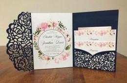 Canada 2019 Invitations de mariage abordables Suites d'invitations de mariage coupées au laser, invitations personnalisables avec enveloppe personnalisée intérieure imprimée Offre