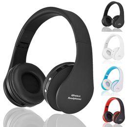 Bluetooth portatile dvd online-NX-8252 Cuffie Bluetooth senza fili pieghevole Cuffie stereo a bassissimo effetto stereo per iP 8 8P X Samsung Note8 DVD MP3