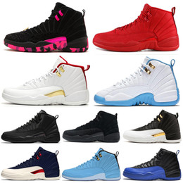 blue shoes band Coupons - 2020 Game Royal FIBA UNC 12 12s mens basketball shoes Hot Punch University Gold Blue Taxi Sports designer Sneakers size 7-13