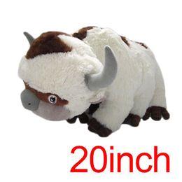 2019 brinquedos de vaca para crianças 2019 nova 50CM Big Size Anime Kawaii Avatar Last Airbender Appa brinquedos de pelúcia macia Juguetes Cow bicho de pelúcia Brinquedos Boneca Kids Brinquedos brinquedos de vaca para crianças barato