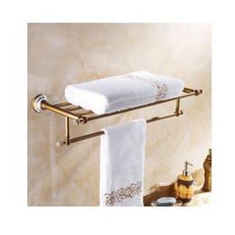 Goldenes handtuch online-Luxus handtuch regal golden 50 cm bad handtuchhalter halter hohe qualität goldenen finish bad towel regale bar bad regal