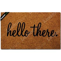 Tapis de porte d'entrée Tapis de sol Hello There Conçu Drôle de paillasson extérieur intérieur en tissu non-tissé haut 23,6