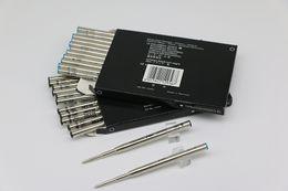 Penna a sfera Classique 12 pezzi MB nero / blu ricarica punto medio con prezzo basso può collocazione mista senza il coperchio di ricarica inchiostro da