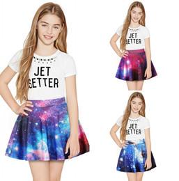 2019 i pantaloncini dei galaxy Bambini Principessa Bambini Principessa Ragazze Gonne Moda blu e viola Spazio Galaxy Stampa Pantaloncini Skir Abbigliamento per bambini sconti i pantaloncini dei galaxy
