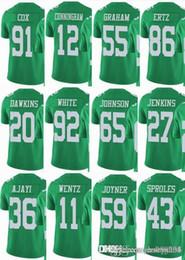 Philadelphia EAGLE  11 Carson Wentz  17 Alshon Jeffery  20 Brian Dawkins   86 Zach Ertz Men Women Youth Color Rush Elite Football Jerseys 847eebf53