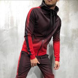 moda suor ternos Desconto Ternos de suor Mens Designer Hoodies 3D Gradiente Zipper Cardigan Hip Hop Moda Casual Camisola Dos Homens Dos Esportes