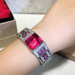 2019 diamanti rubini Braccialetti di lusso Ruby Bracciali per donna Diamante Bangle Gioielli di lusso Compleanno Capodanno Regalo gioielli firmati diamanti rubini economici