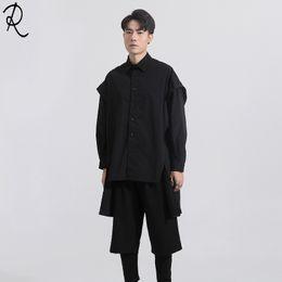Maßgeschneiderte männliche Mode Friseur GD Persönlichkeit dreidimensionale Anfertigung und Verbindung von langärmeligen Hemden in Übergröße von Fabrikanten