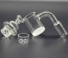 25 millimetri OD opaco inferiore al quarzo Banger Domeless unghie con quarzo inserto ciotola Terp Perle e filatura di vetro tappo carb per bong vetro dab rig da
