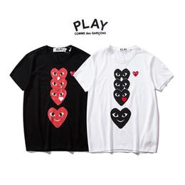 Argentina JUGAR Yu Kawakubo 2019 Diseñador de moda T Shirt Pareja modelos manga corta ropa amor expresiones faciales Suministro