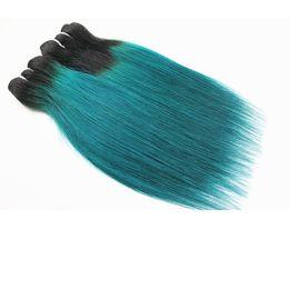 Цвет T / Green Прямые Человеческие Волосы Плетет Бразильские Индийские 100% Девы Человеческих Волос Пучки 12 дюймов cheap virgin brazilian green hair от Поставщики виргинские бразильские зеленые волосы