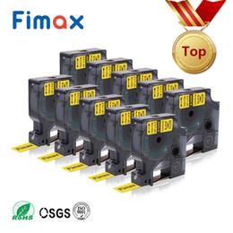 2019 formatador hp Fimax 10 Pcs 3 Tamanho 18490 18488 Compatível para Dymo Rinoceronte Flexível Nylon Etiqueta Tape 18489 18491 1734524 1734525 DYMO IND Label